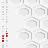 Abstract Hexagon Grafisch Ontwerp Witte Futuristische Sexangle Backg Stock Fotografie