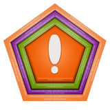Abstract hexagon. Hexagon pushed into the background, and has space for text. Inside the shape splat Stock Image