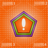 Abstract hexagon. Hexagon pushed into the background, and has space for text. Inside the shape splat.  stock illustration