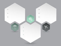 Abstract hexagon infographic design Royalty Free Stock Photo