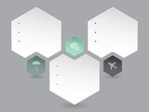 Abstract hexagon infographic ontwerp Royalty-vrije Stock Foto