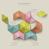 Abstract hexagon infographics Stock Images