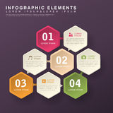 Abstract hexagon infographics vector illustration