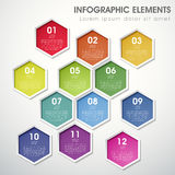 Abstract hexagon infographics Stock Photo