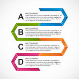 Abstract hexagon infographics template. Royalty Free Stock Photo