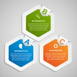 Abstract hexagon infographicsmalplaatje Royalty-vrije Stock Afbeelding