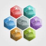 Abstract hexagon infographicsmalplaatje Royalty-vrije Stock Fotografie