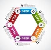 Abstract hexagon infographicsmalplaatje Royalty-vrije Stock Foto's