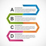 Abstract hexagon infographicsmalplaatje Royalty-vrije Stock Foto