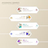 Abstract hexagon label infographics Stock Photography