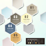 Abstract hexagon label infographics royalty free illustration