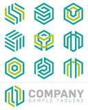 Abstract Hexagon Logo And Design Elements Royalty Free Stock Images