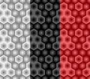 Abstract hexagon naadloos patroon van gestreepte elementen Deel acht stock illustratie
