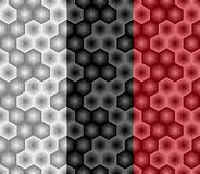 Abstract hexagon naadloos patroon van gestreepte elementen Deel vijf vector illustratie