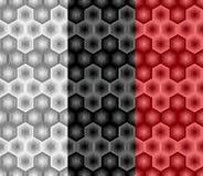 Abstract hexagon naadloos patroon van gestreepte elementen Deel zeven royalty-vrije illustratie