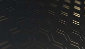 Abstract Hexagon Net Background Closeup. 3D Rendering Of Abstract Hexagon Net Background Closeup With Soft Focus Royalty Free Stock Images
