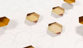 Abstract Hexagon Net Background Closeup. 3D Rendering Of Abstract Hexagon Net Background Closeup With Soft Focus Royalty Free Stock Photography