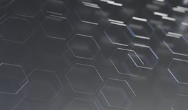 Abstract Hexagon Net Background Closeup. 3D Rendering Of Abstract Hexagon Net Background Closeup With Soft Focus Stock Photo