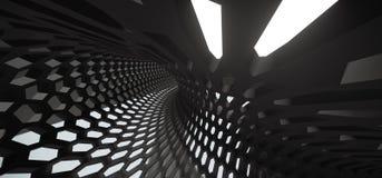 Abstract Hexagon Net Mesh Tunnel Royalty-vrije Stock Foto