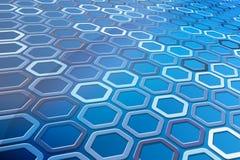 Abstract Hexagon Patroon Royalty-vrije Stock Foto's