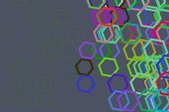 Abstract hexagon patroon als achtergrond voor ontwerp Achtergrond, details, concept & art. royalty-vrije illustratie