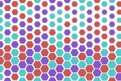 Abstract hexagon patroon als achtergrond voor ontwerp Mozaïek, Web, behang & vector vector illustratie