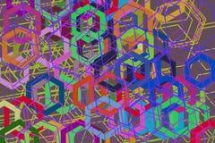 Abstract hexagon patroon als achtergrond voor ontwerp Slordig, het geometrische malplaatje, & herhaalt Stock Fotografie