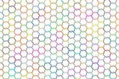 Abstract hexagon patroon als achtergrond voor ontwerp Vorm, canvas, geometrisch, grafisch & malplaatje Royalty-vrije Stock Fotografie