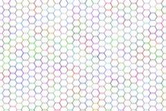 Abstract hexagon patroon als achtergrond voor ontwerp Vorm, mozaïek, stijl, grafisch & details royalty-vrije illustratie