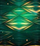 Abstract hexagon patroon. Groene glanzende achtergrond. Stock Foto's