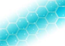 Abstract hexagon patroon met netwerkachtergrond Royalty-vrije Stock Foto