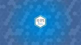 Abstract hexagon patroon op blauw BG Royalty-vrije Stock Foto's