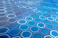 Abstract Hexagon Pattern Royalty Free Stock Photos