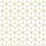 Abstract hexagon pattern. 3d illustration isolated on white background Stock Image