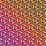 Abstract hexagon pattern background. Abstract vector background with no transparencies. Every shape is individually colored and easy to change. Circles inside vector illustration