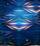 Abstract hexagon pattern. Blue shiny background. Stock Photos