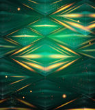 Abstract hexagon pattern. Green shiny background. Stock Photos