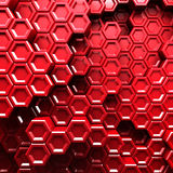 Abstract Hexagon Pattern Red Background Royalty Free Stock Photography