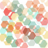 Abstract hexagon shape background Royalty Free Stock Image