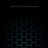 Abstract hexagon shapes background Royalty Free Stock Photo