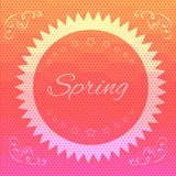 Abstract hexagon spring background - eps10 Stock Image