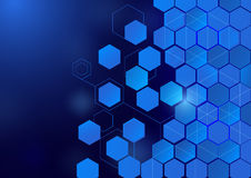 Abstract hexagon technology concept background royalty free illustration