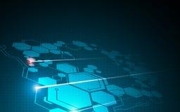 Abstract hexagon van achtergrond bewegingstechnologie innovatief ontwerpconcept Royalty-vrije Stock Foto's
