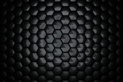 Abstract Hexagon Wall. With Black Brushed Texture Royalty Free Stock Photo