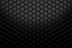 Abstract Hexagon Wall. With Black Brushed Texture stock illustration