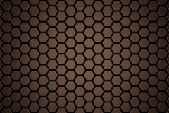 Abstract Hexagon Wall. With Bronze Brushed Texture Stock Photography