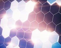Abstract hexagonal backdrop Royalty Free Stock Images