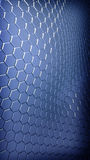 Abstract hexagonal background. Abstract hexagonal metallic plates background Royalty Free Stock Images