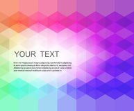 Abstract hexagonal background. Abstract composition of hexagons of geometric shapes. Colorful mosaic background.Geometric color background with place for your stock illustration