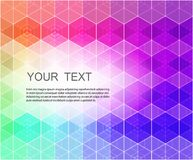 Abstract hexagonal background. Abstract composition of hexagons of geometric shapes. Colorful mosaic background.Geometric color background with place for your Royalty Free Stock Photo